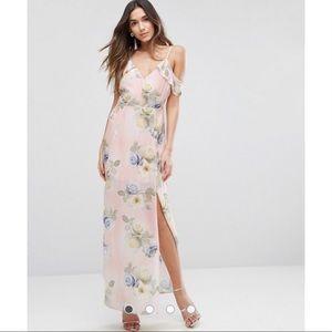 ASOS Pink Floral Maxi Dress